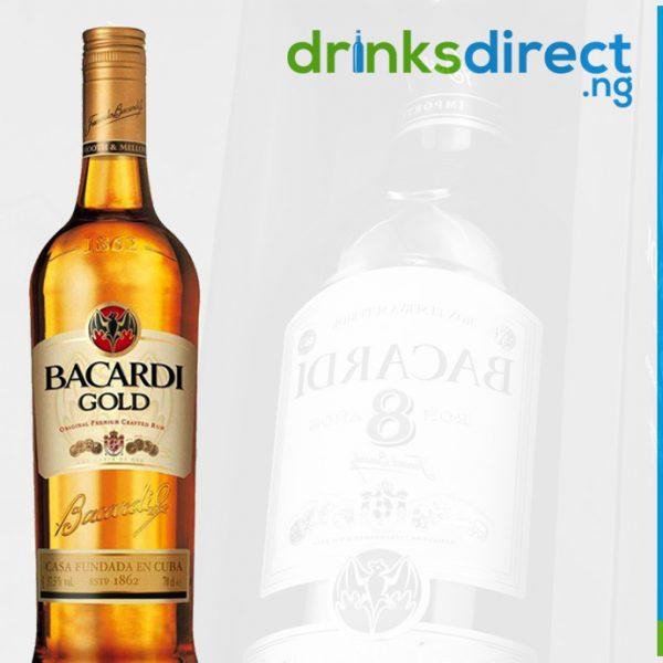 BACARDI GOLD RUM 1LTR