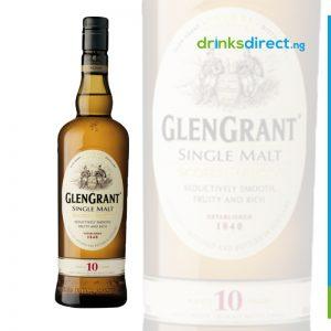 GLEN GRANT SINGLE MALT SCOTCH WHISKEY 10 YEAR OLD