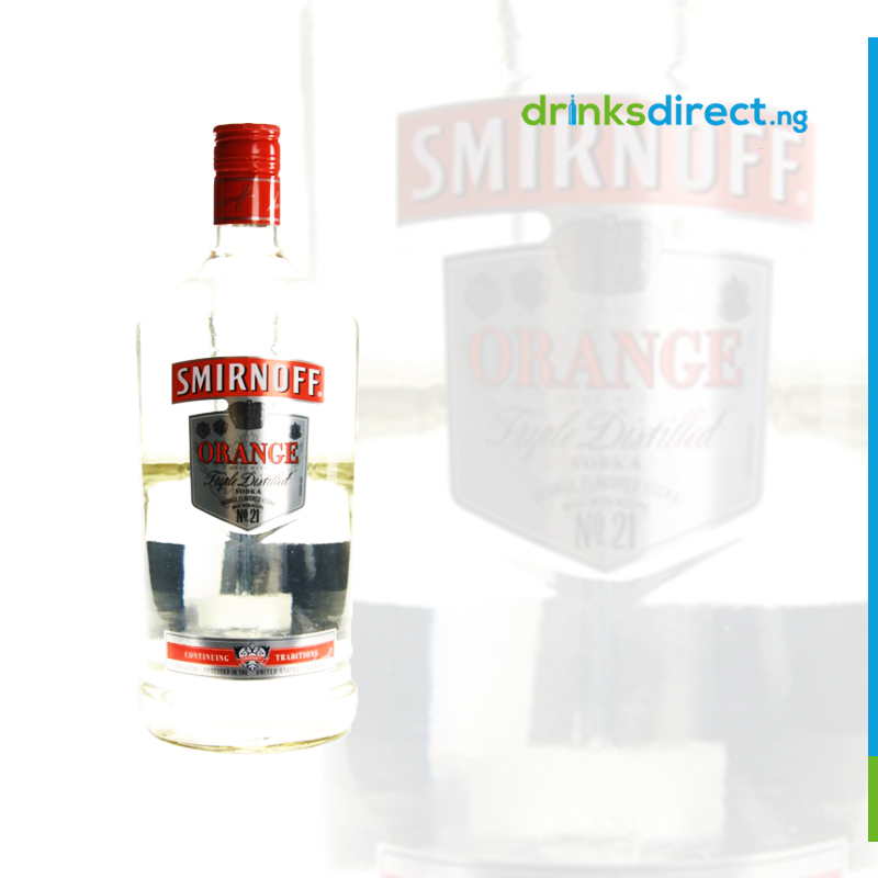 SMIRNOFF VODKA ORANGE 1 LTR