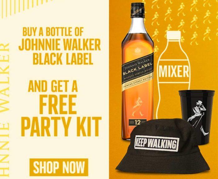 JW black label party kit johnnie walker